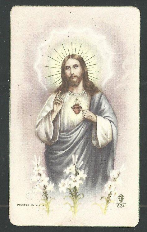 HOLY CARD ANTIQUE de Jesus estampa image pieuse santino andachtsbild - £4.00. Holy card antique de Jesus 372349765397