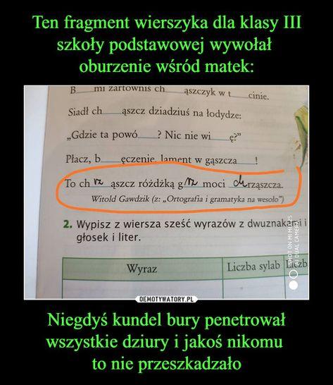 Ten Fragment Wierszyka Dla Klasy Iii Szkoły Podstawowej