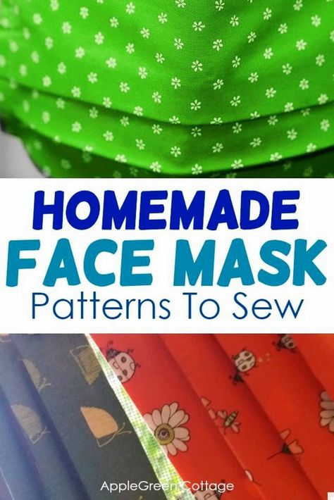 Cute Sewing Projects, Sewing Projects For Beginners, Sewing Hacks, Sewing Tutorials, Sewing Crafts, Sewing Patterns, Sewing Tips, List Of Fabrics, Diy Face Mask