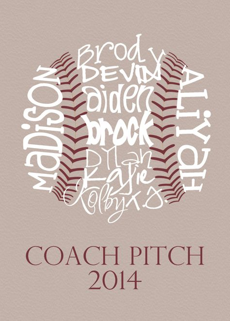 Baseball Coach Gift... Typography Art by lesleygracedesigns, $20.00