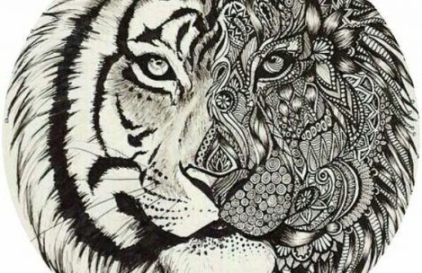 Adult Coloring Pages Tiger Coloring Pages Mandala Coloring Pages