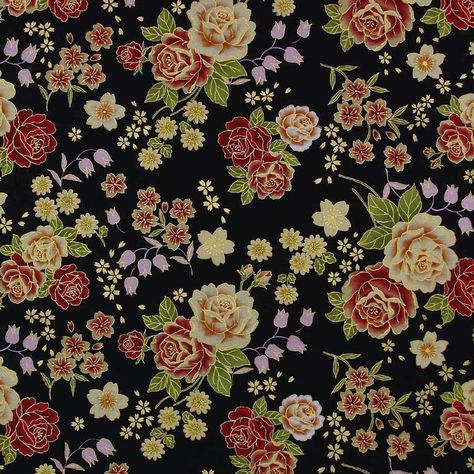 100/% Cotton Fabric The Little Johnny Range Swallow Roses Tattoo 145cm Wide