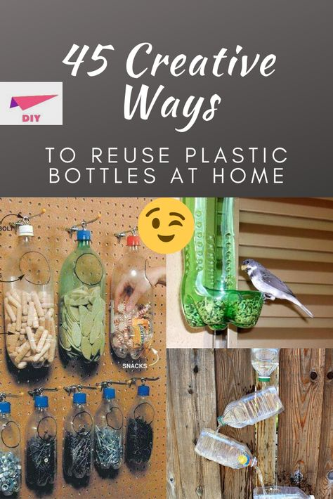 Reuse Plastic Bottles, Plastic Bottle Crafts, Crafts To Make, Fun Crafts, Craft Room Storage, Repurposed Items, Simple Life Hacks, Reuse Recycle, Diy Pallet Projects