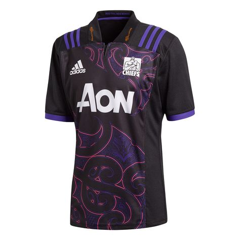 Chiefs Rugby union team Adidas 2018 19 Adults Polo Shirt