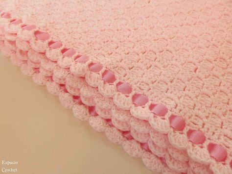 Espacio Crochet: Manta para bebé