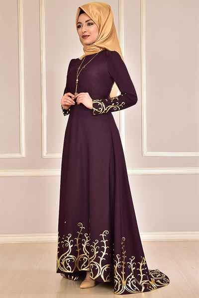 Modamerve En Guzel Tesettur Elbise Modelleri Moda Tesettur Giyim Elbise Modelleri Elbise Resmi Elbise