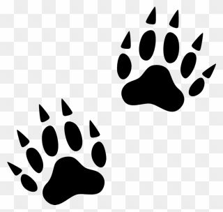 Svg Free Library Animal Footprints Clipart Wolverine Paw Print Clip Art Png Download Paw Print Clip Art Animal Footprints Tiger Paw Print