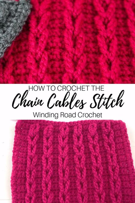 to Crochet: Chain Cables Video Tutorial Learn to crochet chain cables or jacob's ladder stitch with this video and photo tutorial.Learn to crochet chain cables or jacob's ladder stitch with this video and photo tutorial.