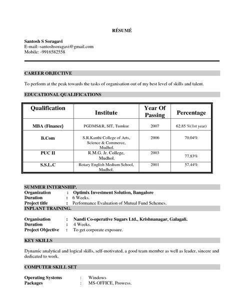 Mba Student Resume Format 28 Images Sle Mba Resume Free