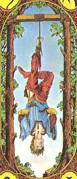 """""""The true Tarot is symbolism; it speaks no other language and offers no other signs."""" ― Arthur Edward Waite www.fibibishoptarot.video.blog/  #fibibishoptarot #fibibishop #tarot #quotes #hangedman #thehangedman"""