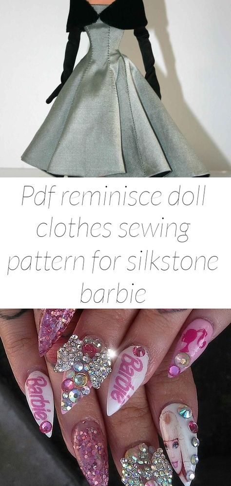 Pdf reminisce doll clothes sewing pattern for silkstone barbie