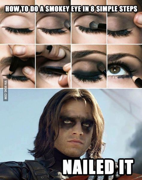 Haha :D This sums up my experience with smokey eye make up :D