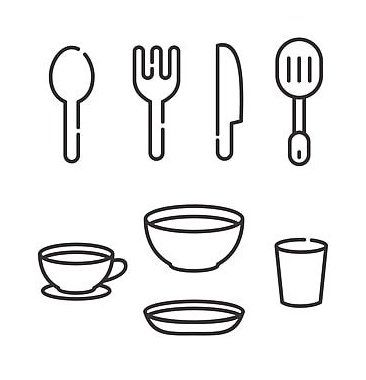 Knife And Fork Vector Illustration With Simple Line Design Suitable For Restaurant Icon Icon Restaurant Fork In 2021 Restaurant Icon Vector Illustration Line Design