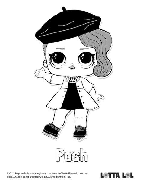 Posh Coloring Page Lotta Lol Lol Dolls Kids Printable Coloring Pages Coloring Pages