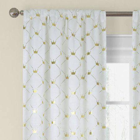 Better Homes & Gardens Metallic Foil Trellis Curtain Panel