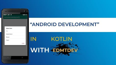 Kotlin Android Tutorial – Searchable Spinner with Firebase