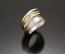 Gold & Silver Ring by Sana  Doumet
