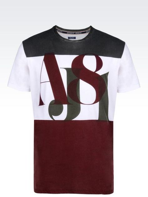 a45ef004 Men's Black Print T-shirt | Made In Italy | Armani jeans, T shirt, Jean  shirts