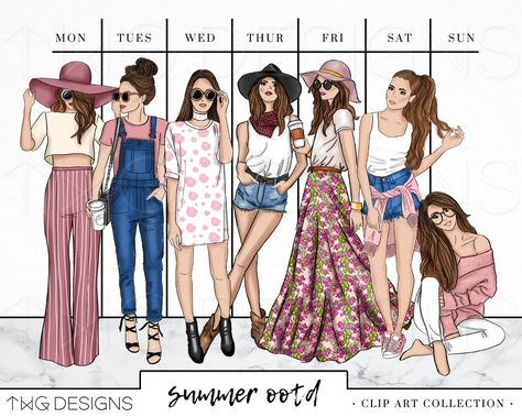 Fashion Girl Clip Art Bundle Watercolor Clipart PNG Hand Drawn Illustration Set Outfit Summer Style The post Fashion Girl Clip Art Bundle Watercolor Clipart PNG Hand Drawn Illustration Set Outfit Summer Style appeared first on Summer Ideas.
