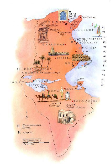 Tunesien Geografiske Kort Over Tunesien Dansk Encyklopaedi
