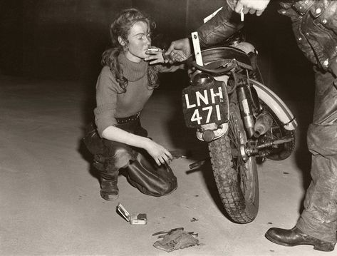 Girl with Triumph and roll-up by Anonymous – art print from King & McGaw