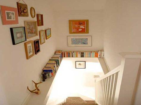 Cage d\'escalier : 20 idées déco pour un bel escalier | livres ...