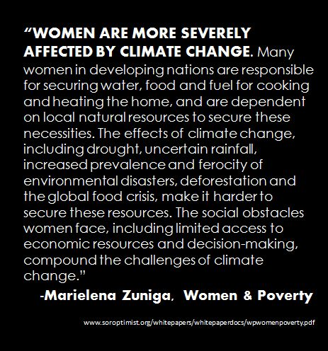 Women Poverty & Climate Change