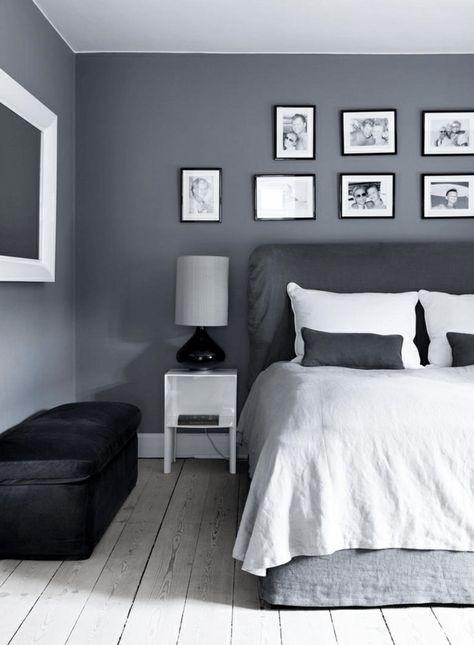 Schlafzimmer Design Grau Graue Wand Schlafzimmer Wandfarbe Grau