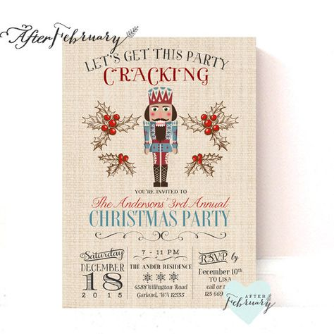 list of pinterest nutcracker party invitations ideas nutcracker