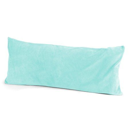 Body Pillow Covers Walmart Gorgeous Mainstays Kids Solid Aqua Body Pillow Cover Blue  Body Pillow Decorating Inspiration