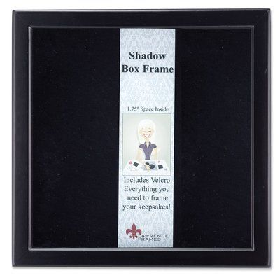 Latitude Run Shadow Box Picture Frame Finish Black Picture Size 12 X 12 Box Picture Frames Shadow Box Picture Frames Wood Shadow Box