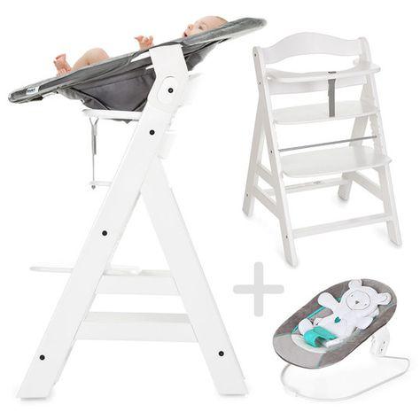 Hauck Alpha Plus Weiss Newborn Set Hochstuhl