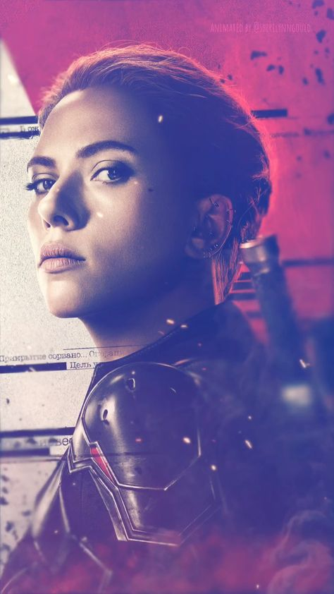 Animated Video GIF Black Widow Natasha Romanoff Scarlett Johansson iPhone wallpaper