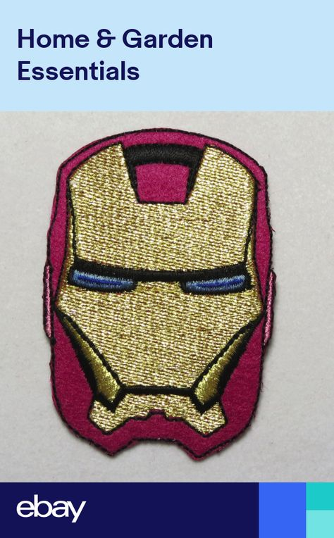 """3.25/"""" Patch Applique  85mm x 50mm MTM Iron Man Embroidery Iron-on Badge"""