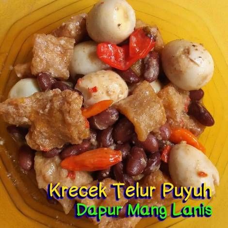 Resep Krecek Telur Puyuh Kacang Merah Oleh Mang Lanis Resep Kacang Merah Makanan Resep Masakan Indonesia