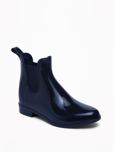 Vinyl Chelsea Ankle Rain Boots for