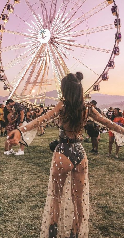 It's Coachella time! 7 clothes to put together your festival looks. - It's Coachella time! Festival Looks, Festival Style, Festival Hippie, Festival Girls, Music Festival Outfits, Music Festival Fashion, Fashion Music, Coachella Festival, Concert Outfits