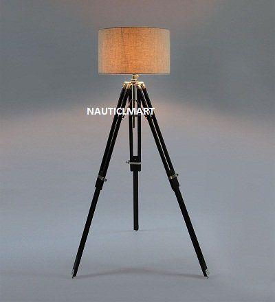 Nauticalmart Vintage Classic Wooden Tripod Floor Lamp Nau Https Www Amazon Ca Dp B01bq9e95a Ref Cm Wooden Tripod Floor Lamp Tripod Floor Lamps Floor Lamp
