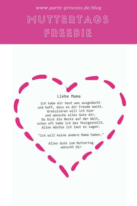 Zum Muttertag haben wir als kostenloses Freebie ein tolles Muttertagsgedicht für euch. Eurer Mutter wird es bestimmt sehr gefallen.