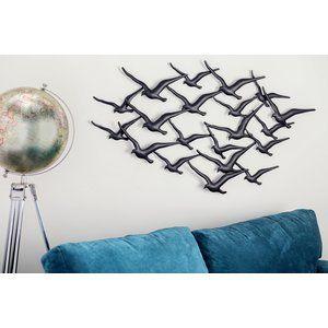 Bird Wall Du00e9cor Birds Flock Du00e9cor Metal Tree Wall Art Metal Birds Metal Tree