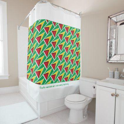 Guyana Flag Customized Scripture Stylish Guyanese Shower Curtain Zazzle Com In 2020 Stylish Shower Curtain Bathroom Gifts Shower Curtain