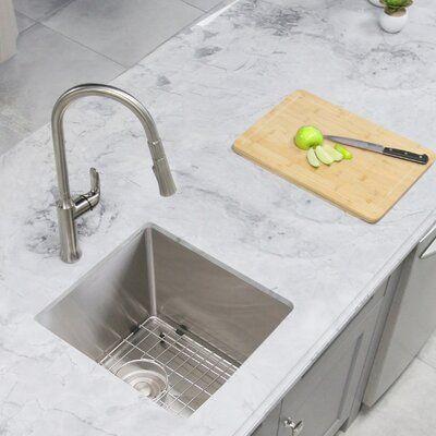 Stylish 16 L X 18 W Undermount Kitchen Sink In 2021 Sinks Kitchen Stainless Bar Sink Stainless Steel Kitchen Sink Undermount