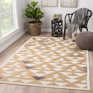 Juniper Home Rouvin Beige And White Geometric Indoor Outdoor Area Rug 5 X 7 5 Indoor Outdoor Rugs Area Rugs Cool Rugs