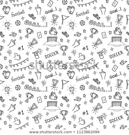 Sport Seamless Pattern With Soccer Doodles On A White Background Seamless Patterns Doodles Background Patterns