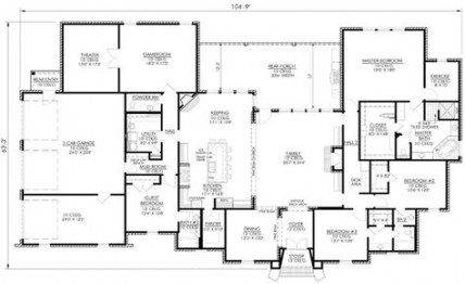 39 Trendy House Plans One Story 4000 Sq Ft French Country House Plans House Plans One Story House Plans Farmhouse