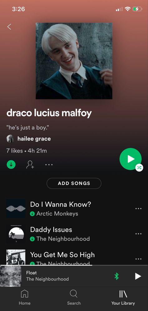 draco lucius malfoy playlist