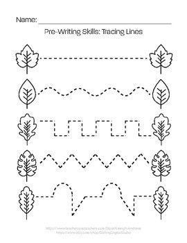 Pre Writing Skills Tracing Lines Coordenacao Motora Fina