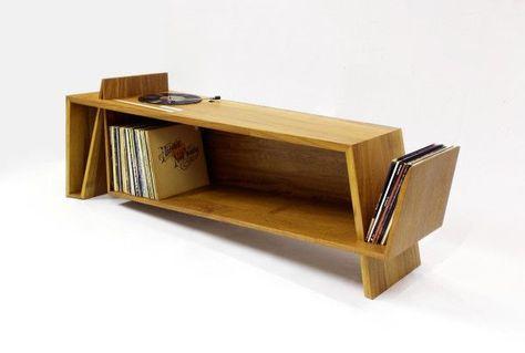 Folded record bureau by hm handmade interiores vinilos para