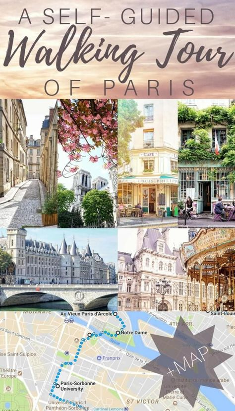 Old Paris Walking Tour: Self Guided Tour, Vintage Paris + Map