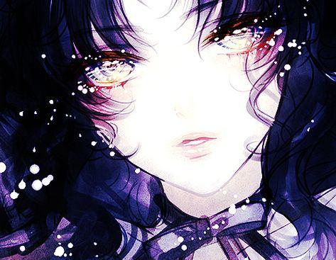 ✮ ANIME ART ✮ anime. . .pretty girl. . .eyes. . .hair. . .sparkling. . .ribbon. . .cute. . .kawaii